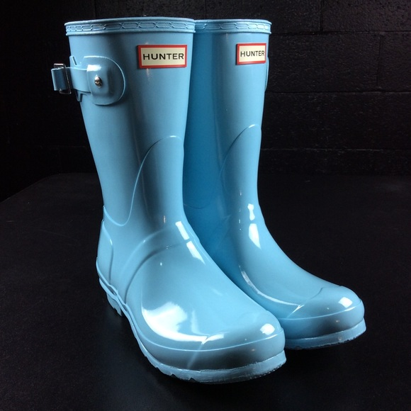Baby Blue Short Rain Boots Nwot